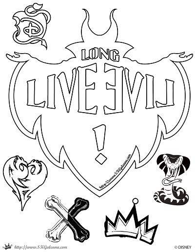 Best ideas about Descendants Printable Coloring Pages . Save or Pin Free Disney Descendants Coloring Pages – SKGaleana Now.