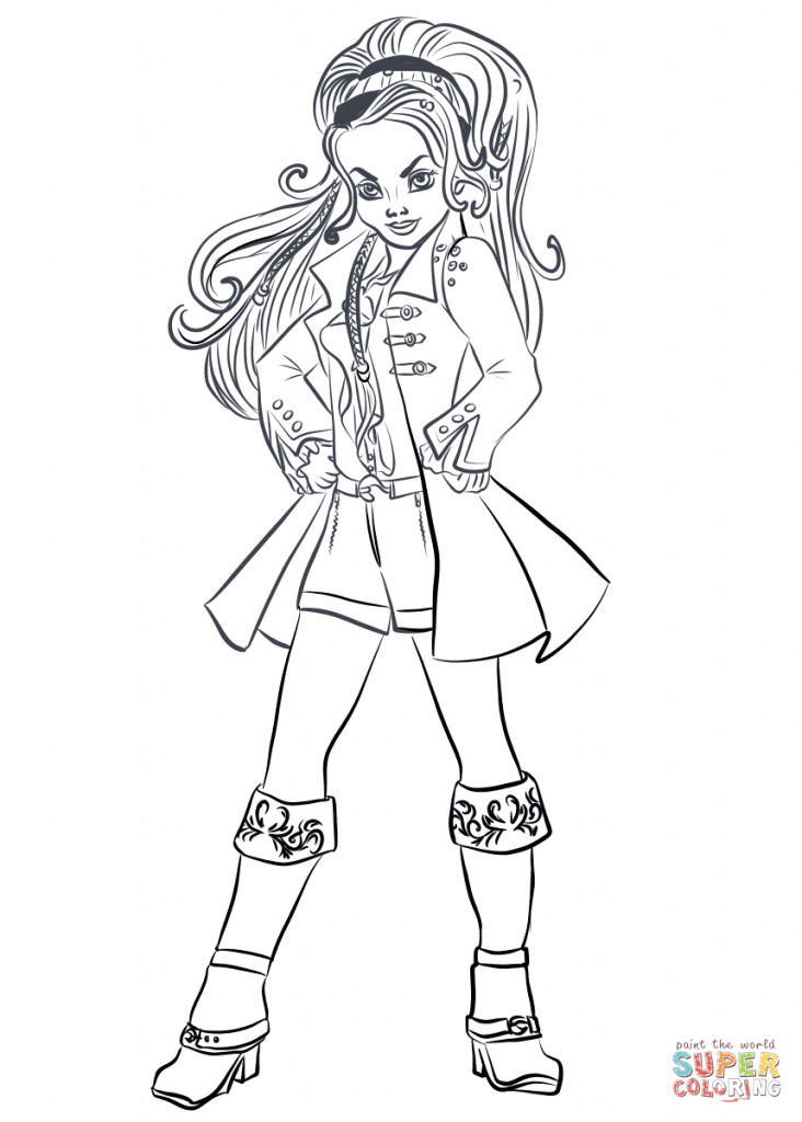 Best ideas about Descendants Printable Coloring Pages . Save or Pin Top 15 Descendants Wicked World Coloring Pages Now.