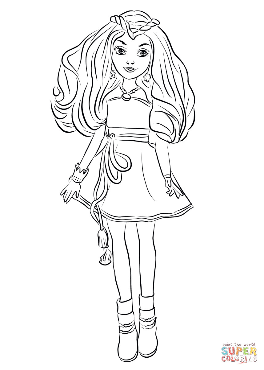 Best ideas about Descendants Printable Coloring Pages . Save or Pin Evie from Descendants Wicked World coloring page Now.