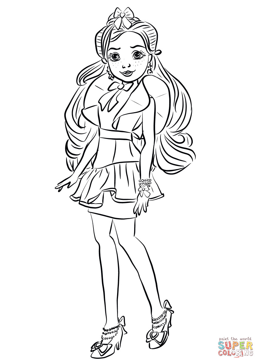 Best ideas about Descendants Printable Coloring Pages . Save or Pin Jane from Descendants Wicked World coloring page Now.