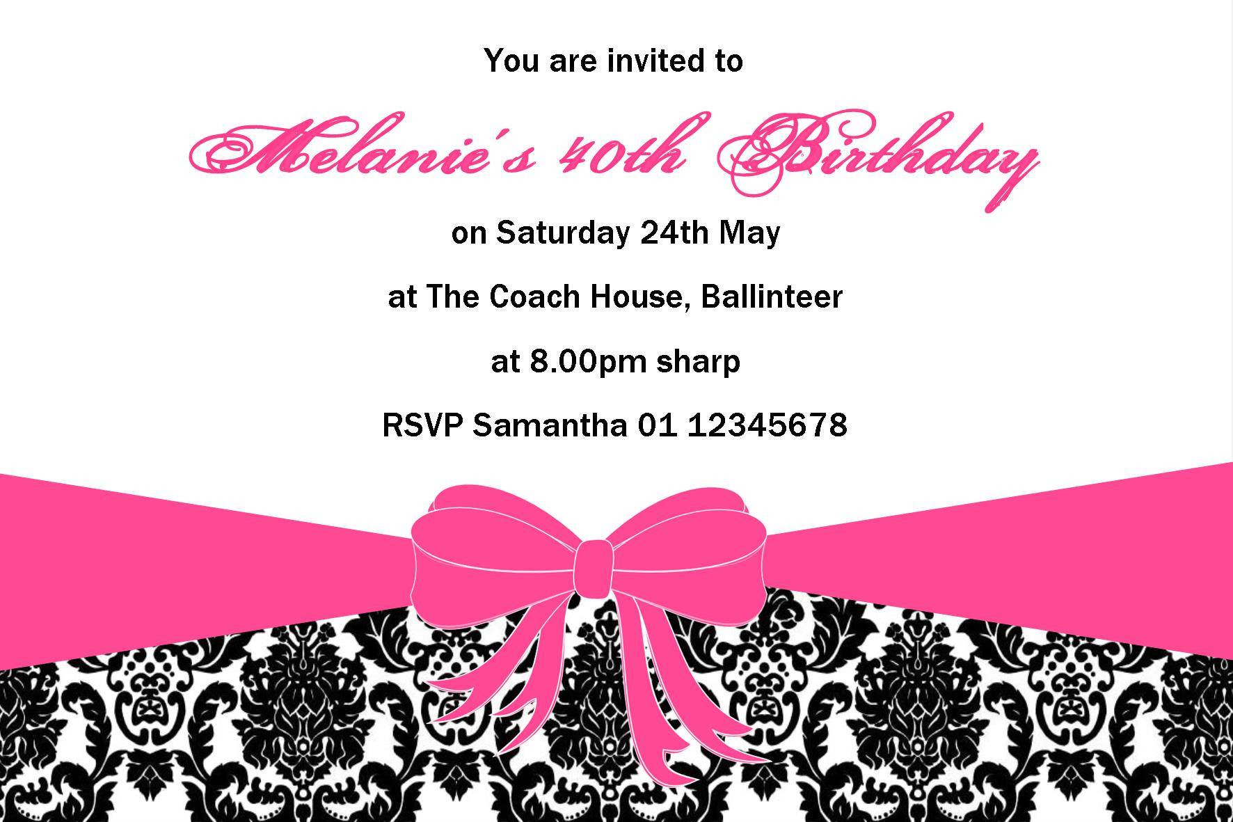 Best ideas about Design Birthday Invitations . Save or Pin Personalised Birthday Invitation Design 1 Now.