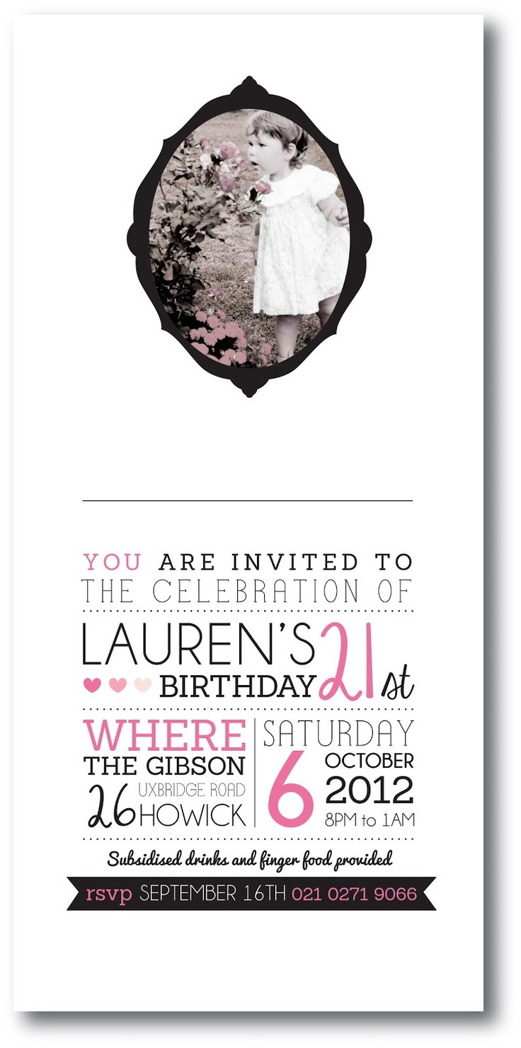 Best ideas about Design Birthday Invitations . Save or Pin 25 best ideas about 21st Invitations on Pinterest Now.