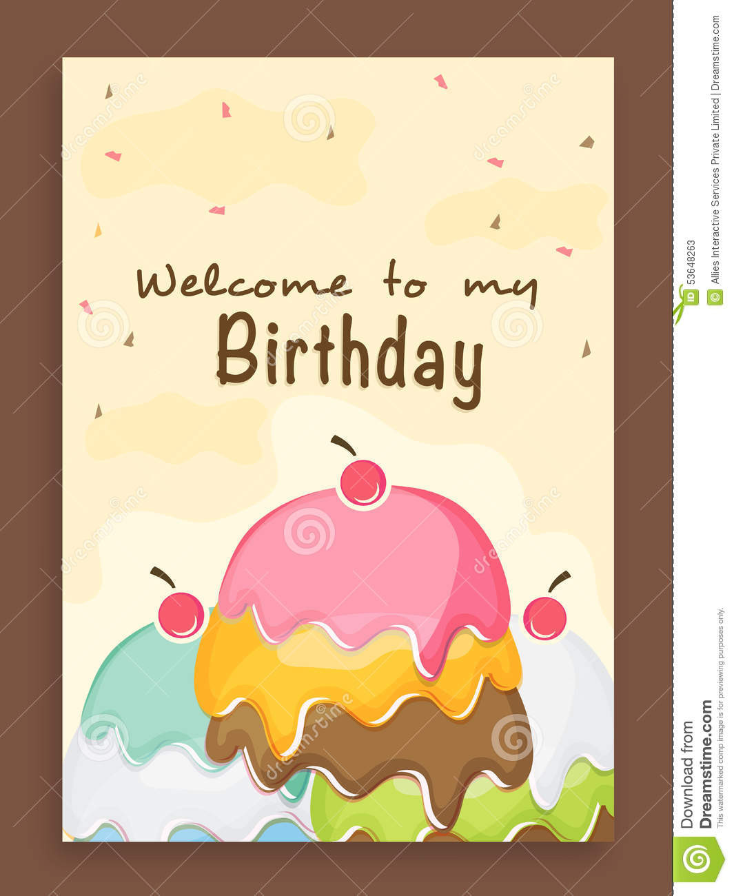 Best ideas about Design Birthday Invitations . Save or Pin Invitation Card Design For Birthday Party Stock Image Now.