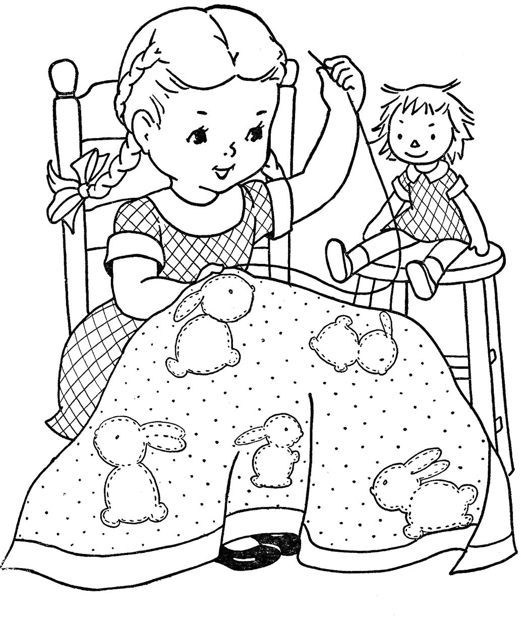 Best ideas about Design Coloring Pages For Girls . Save or Pin Favorite Paint Book — Little Girls – Q is for Quilter Now.
