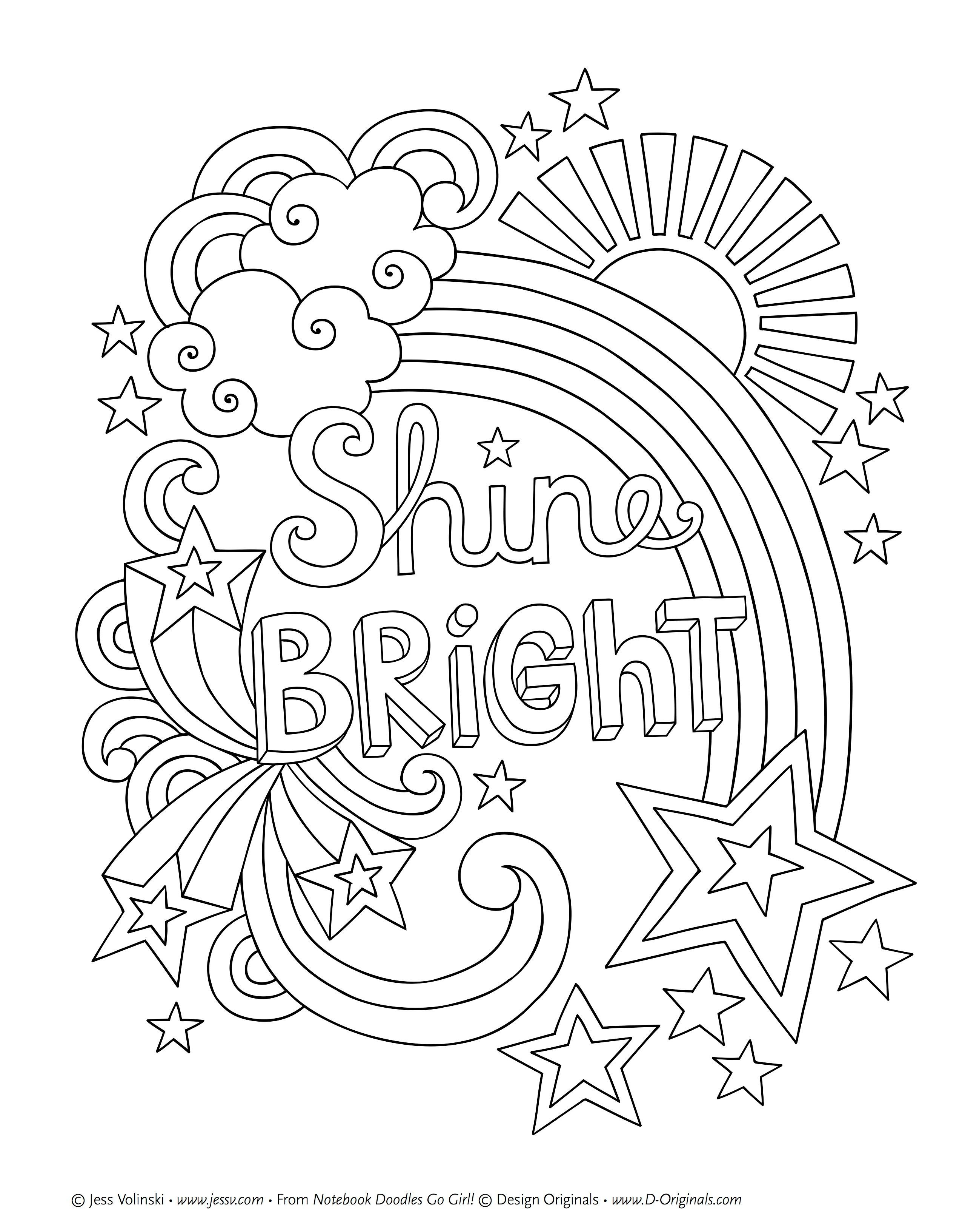 Best ideas about Design Coloring Pages For Girls . Save or Pin Notebook Doodles Go Girl Coloring & Activity Book Now.