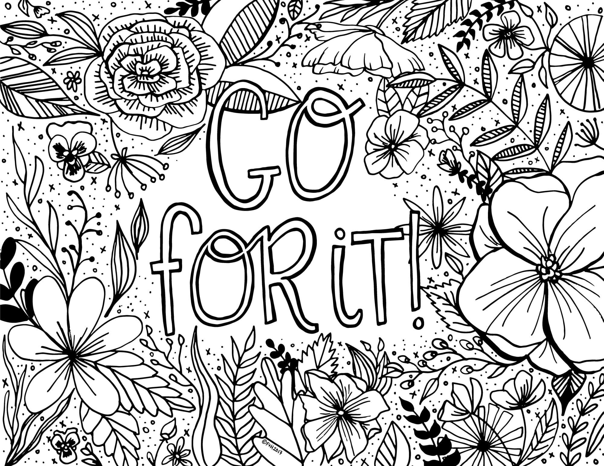 Best ideas about Design Coloring Pages For Girls . Save or Pin Free Encouragement Coloring Page Printable Now.