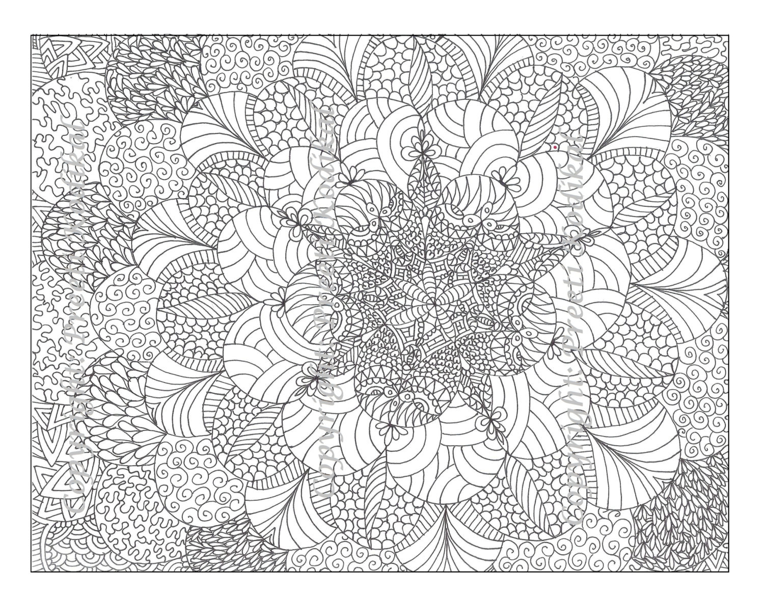 Best ideas about Detailed Coloring Pages For Adults . Save or Pin Free Printable Abstract Coloring Pages for Adults Now.