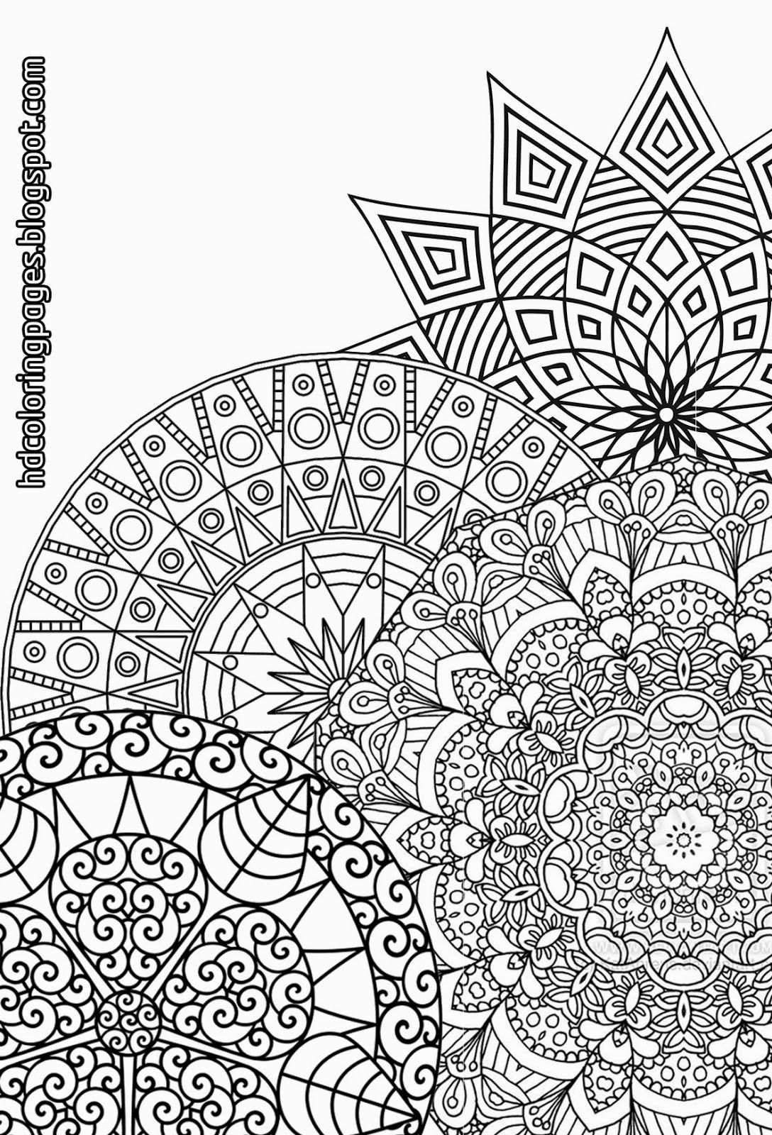Best ideas about Detailed Coloring Pages For Adults . Save or Pin Super Detailed Mandalas Coloring Pages for Adult Now.