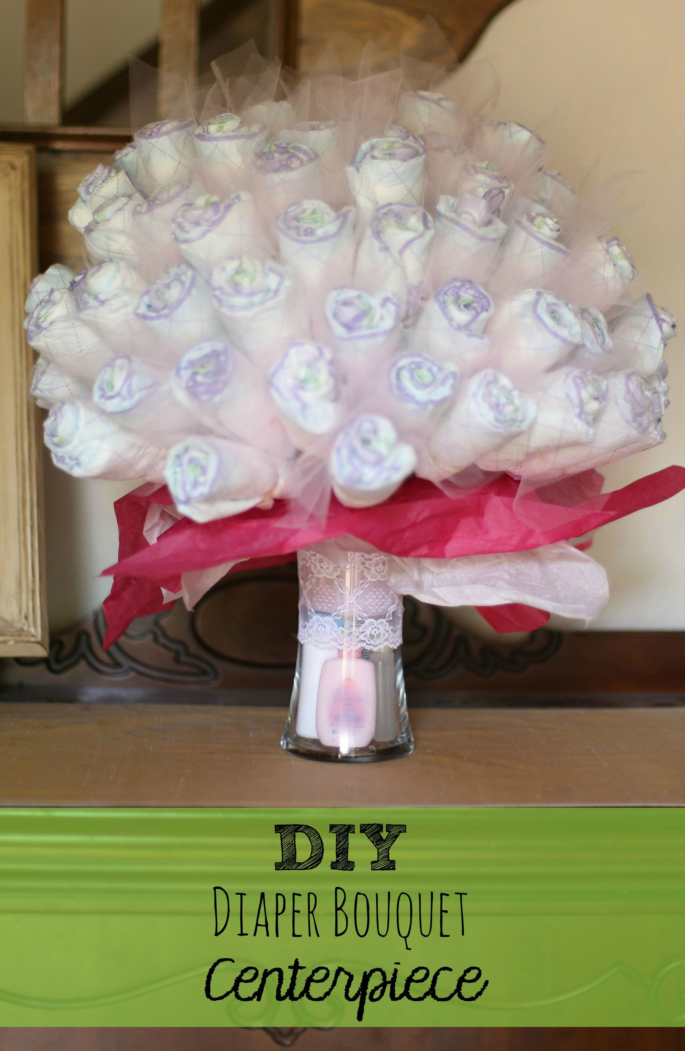 Best ideas about Diaper Ideas For Baby Shower Gift . Save or Pin DIY Diaper Bouquet Centerpiece perfect baby shower t Now.