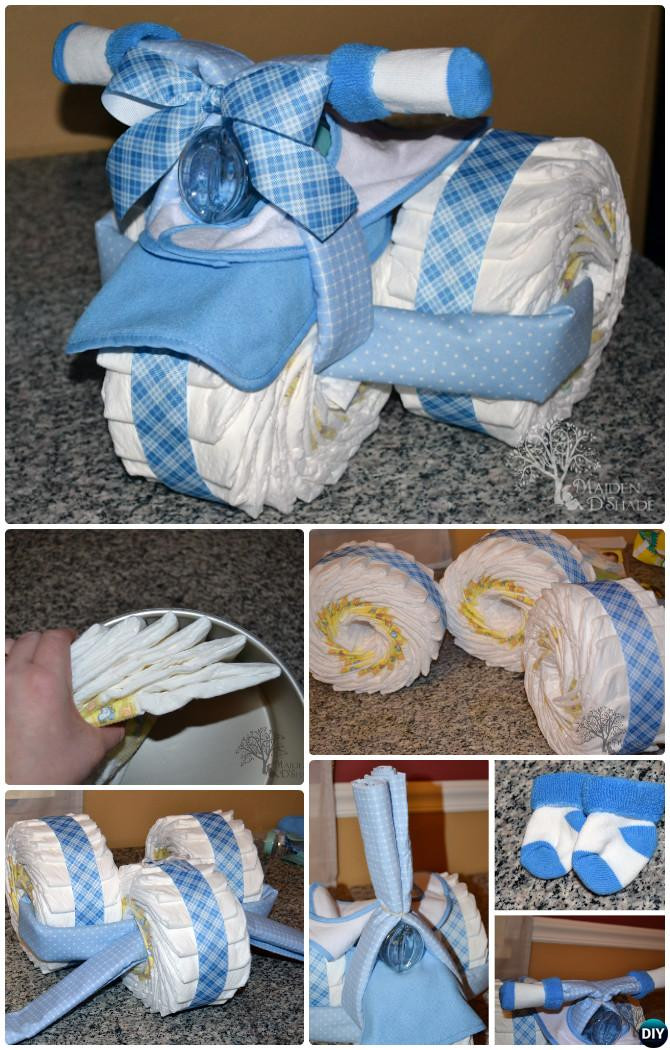 Best ideas about Diaper Ideas For Baby Shower Gift . Save or Pin Handmade Baby Shower Gift Ideas [Picture Instructions] Now.