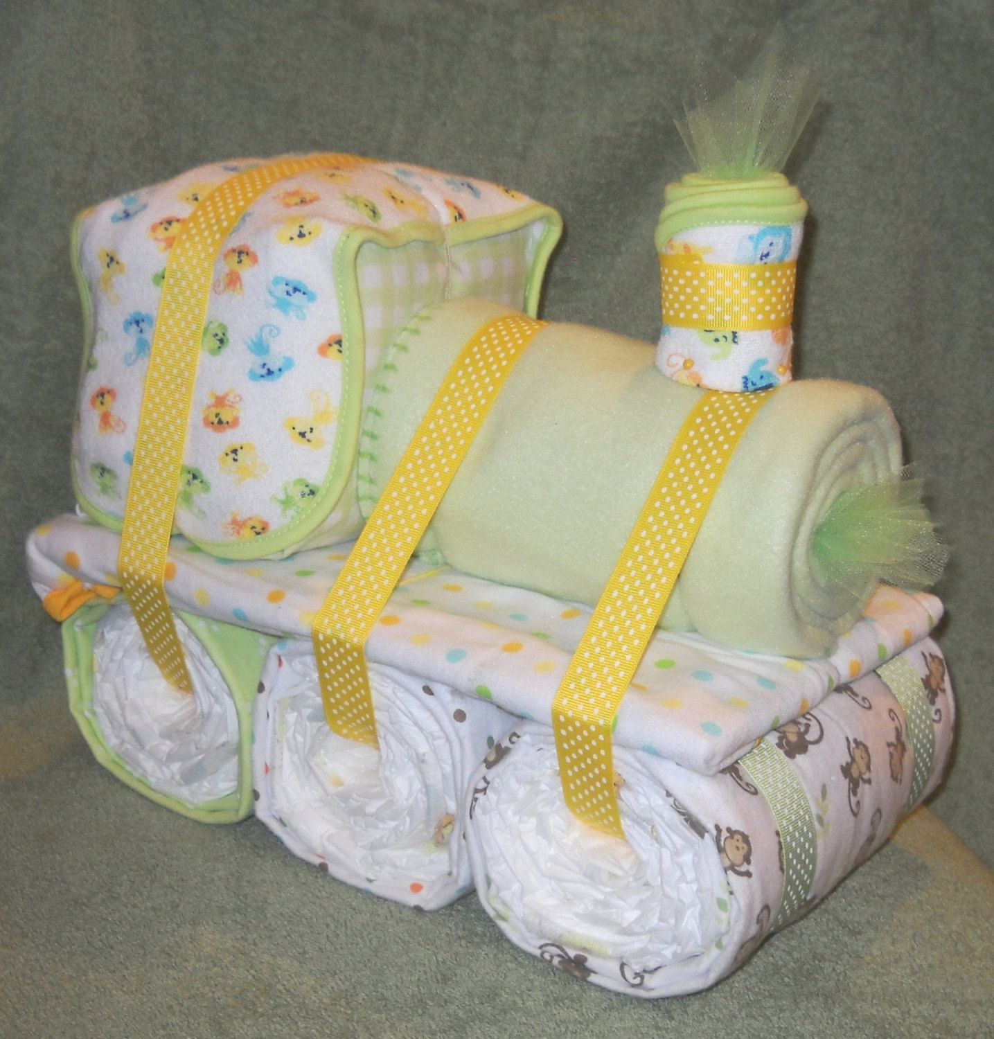 Best ideas about Diaper Ideas For Baby Shower Gift . Save or Pin Choo Choo Train Diaper Cake for Baby Shower Centerpiece or Now.