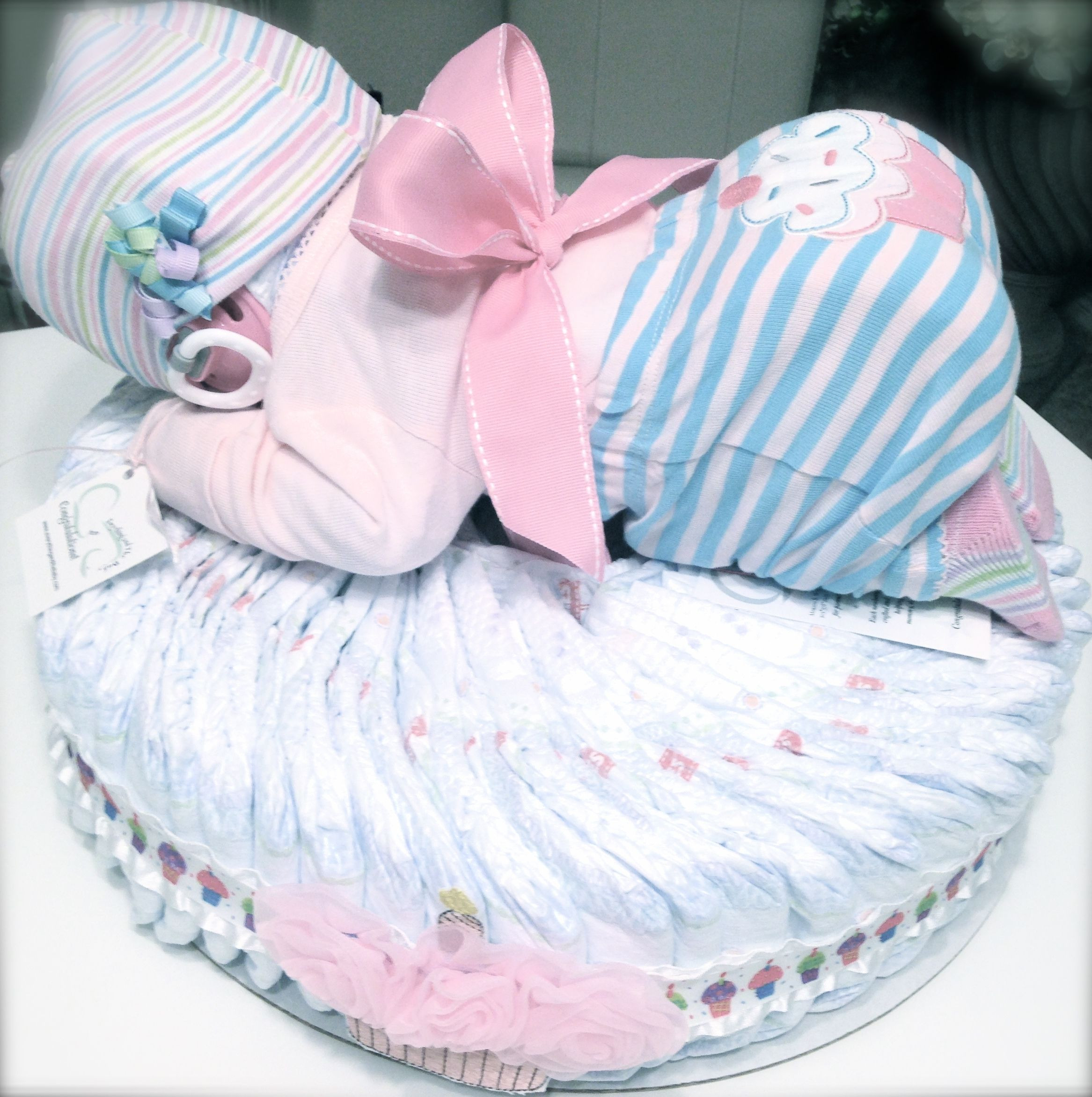 Best ideas about Diaper Ideas For Baby Shower Gift . Save or Pin Custom Lil Cupcake Diaper Baby Cake Perfect for a baby Now.