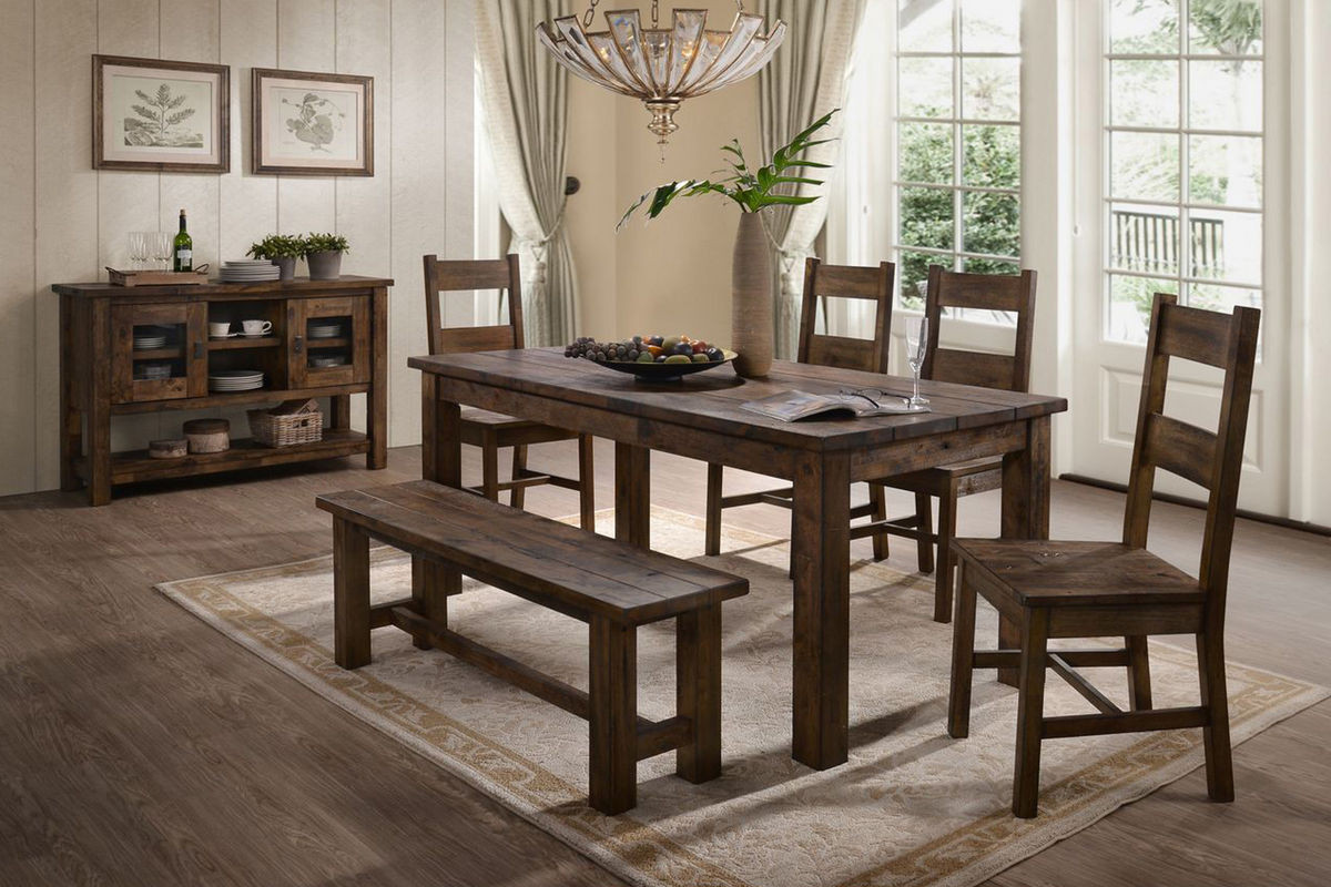 Best ideas about Dining Room Bench . Save or Pin Denby Table 4 Side Chairs Bench at Gardner White Now.