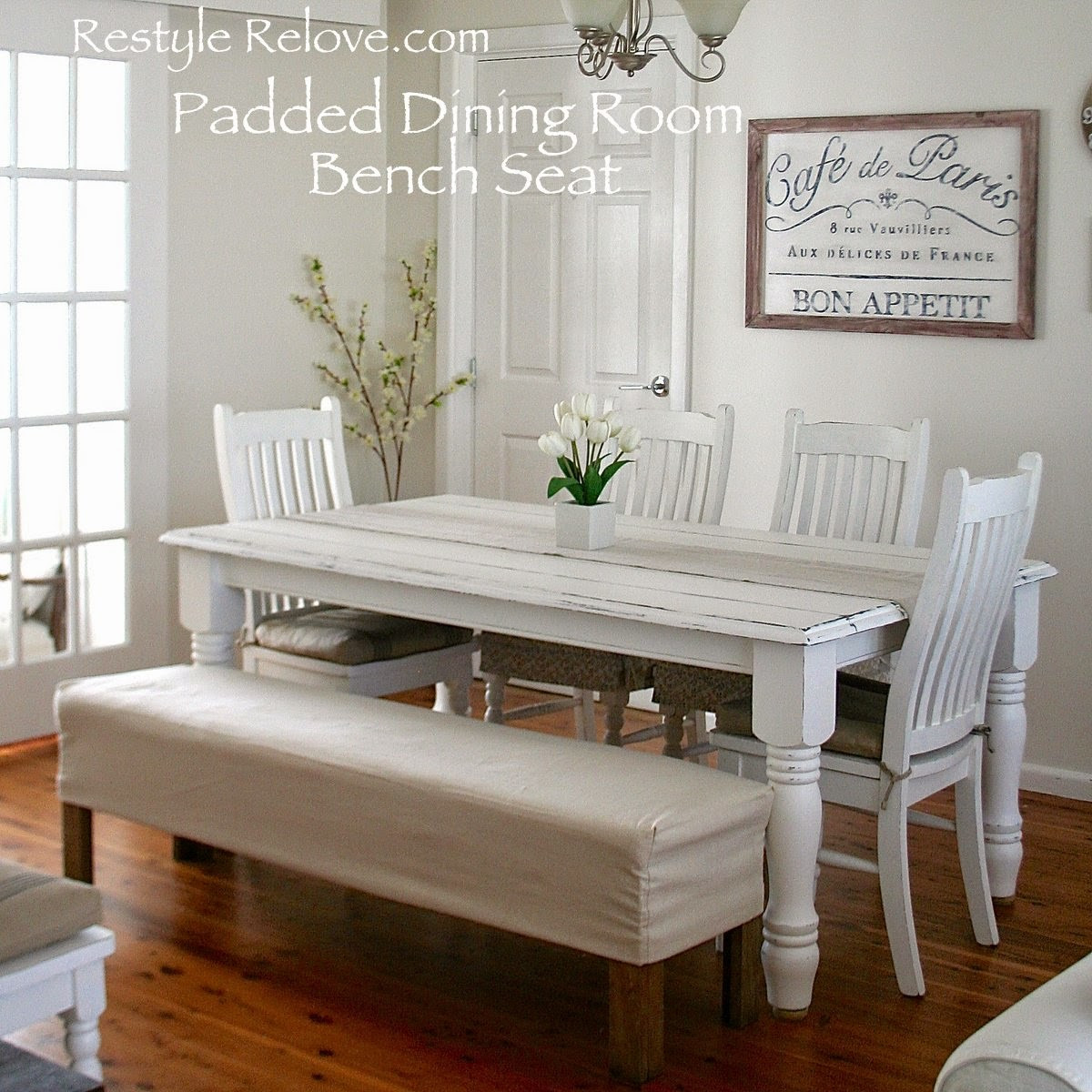 Best ideas about Dining Room Bench . Save or Pin Padded Dining Room Bench Seat with Removable Washable Drop Now.