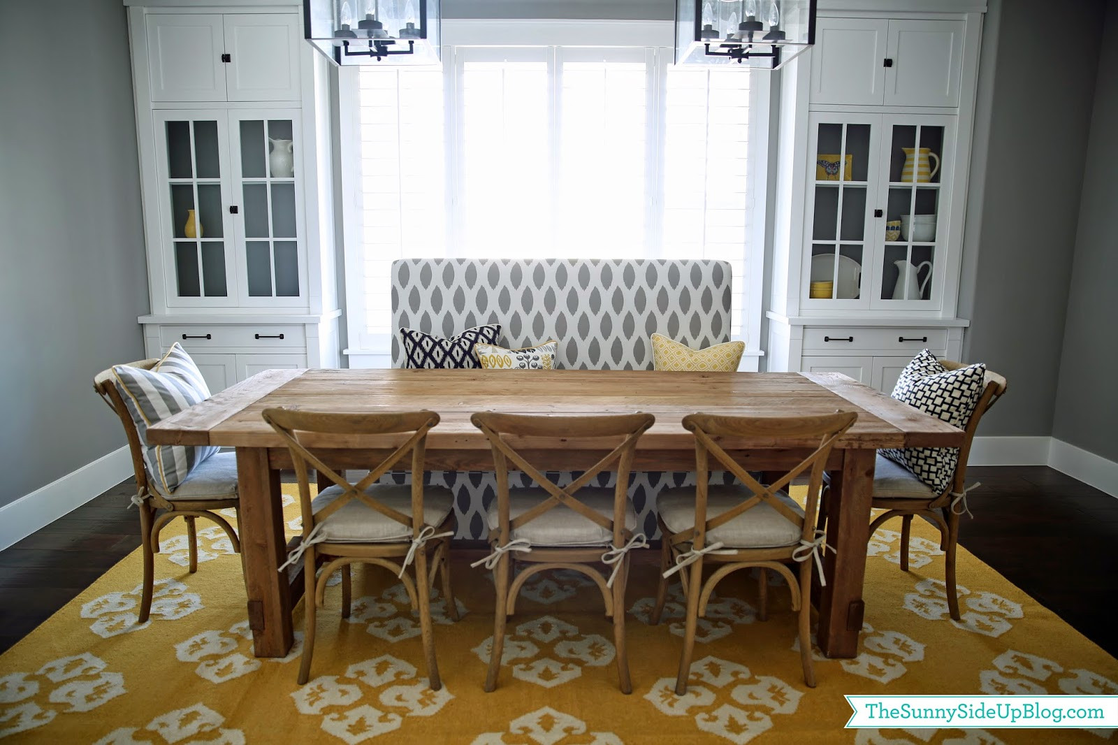 Best ideas about Dining Room Bench . Save or Pin Dining room decor update bench chairs pillows The Now.