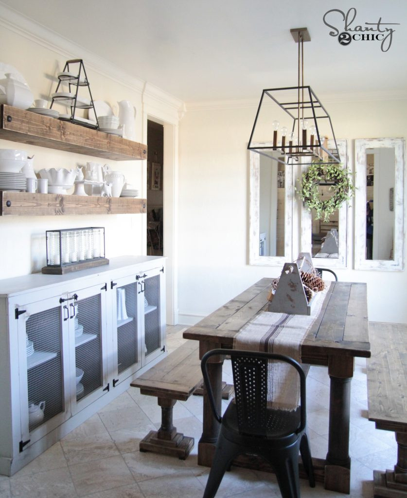 Best ideas about Dining Room Bench . Save or Pin DIY Dining Table with Turned Legs Shanty 2 Chic Now.