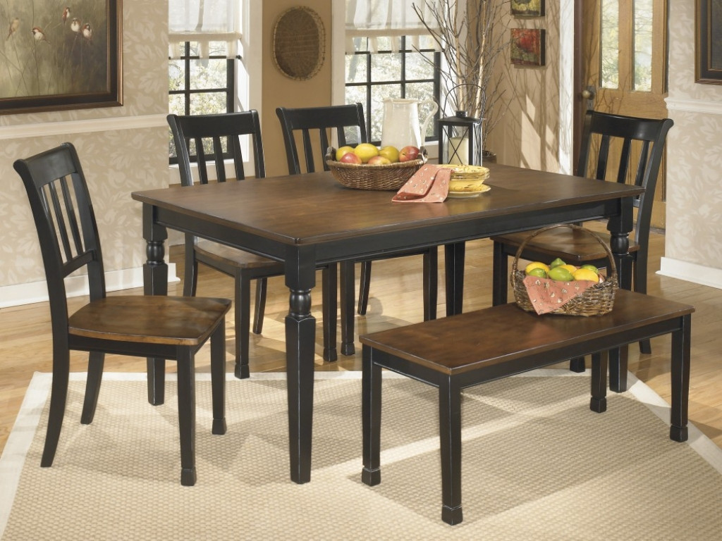 Best ideas about Dining Room Sets With Bench . Save or Pin Dining room side table ashley furniture dining room table Now.