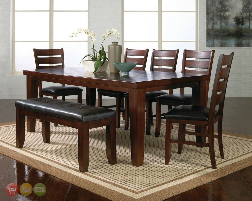 Best ideas about Dining Room Sets With Bench . Save or Pin Bardstown 6 Piece Rustic Dining Room Furniture Set w Now.