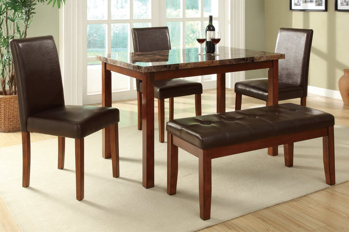 Best ideas about Dining Room Sets With Bench . Save or Pin 26 Big & Small Dining Room Sets with Bench Seating Now.