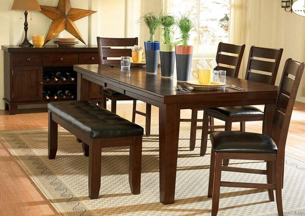 Best ideas about Dining Room Sets With Bench . Save or Pin 26 Dining Room Sets Big and Small with Bench Seating 2019 Now.