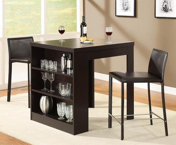 Best ideas about Dining Table With Storage . Save or Pin Small Dining Table with storage shelf Home and Interior design Now.