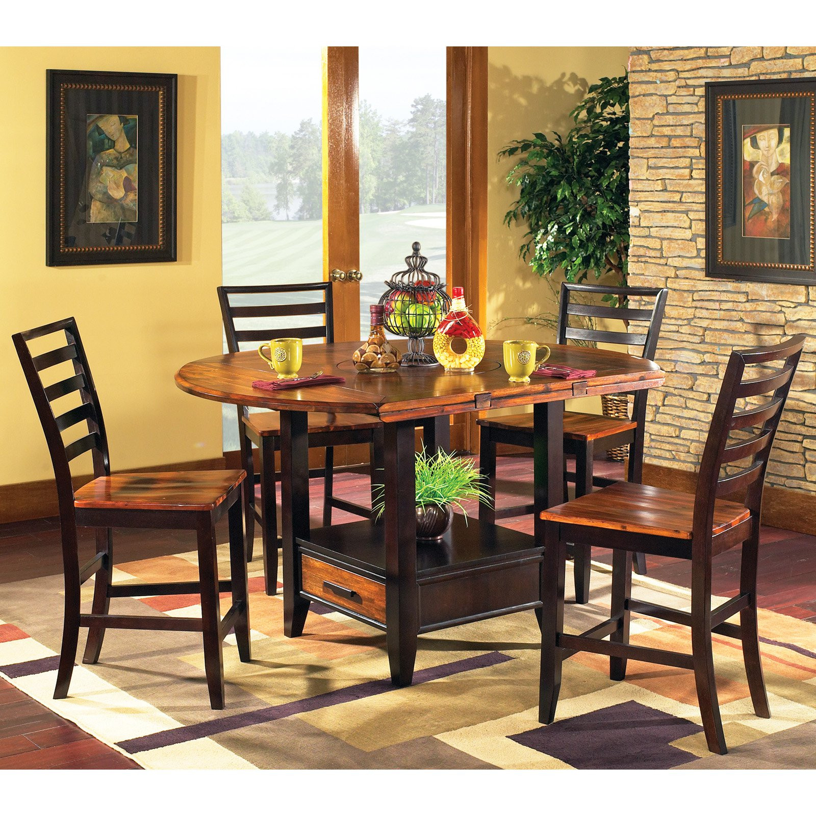 Best ideas about Dining Table With Storage . Save or Pin Steve Silver Abaco 5 Piece Counter Height Dining Table Now.