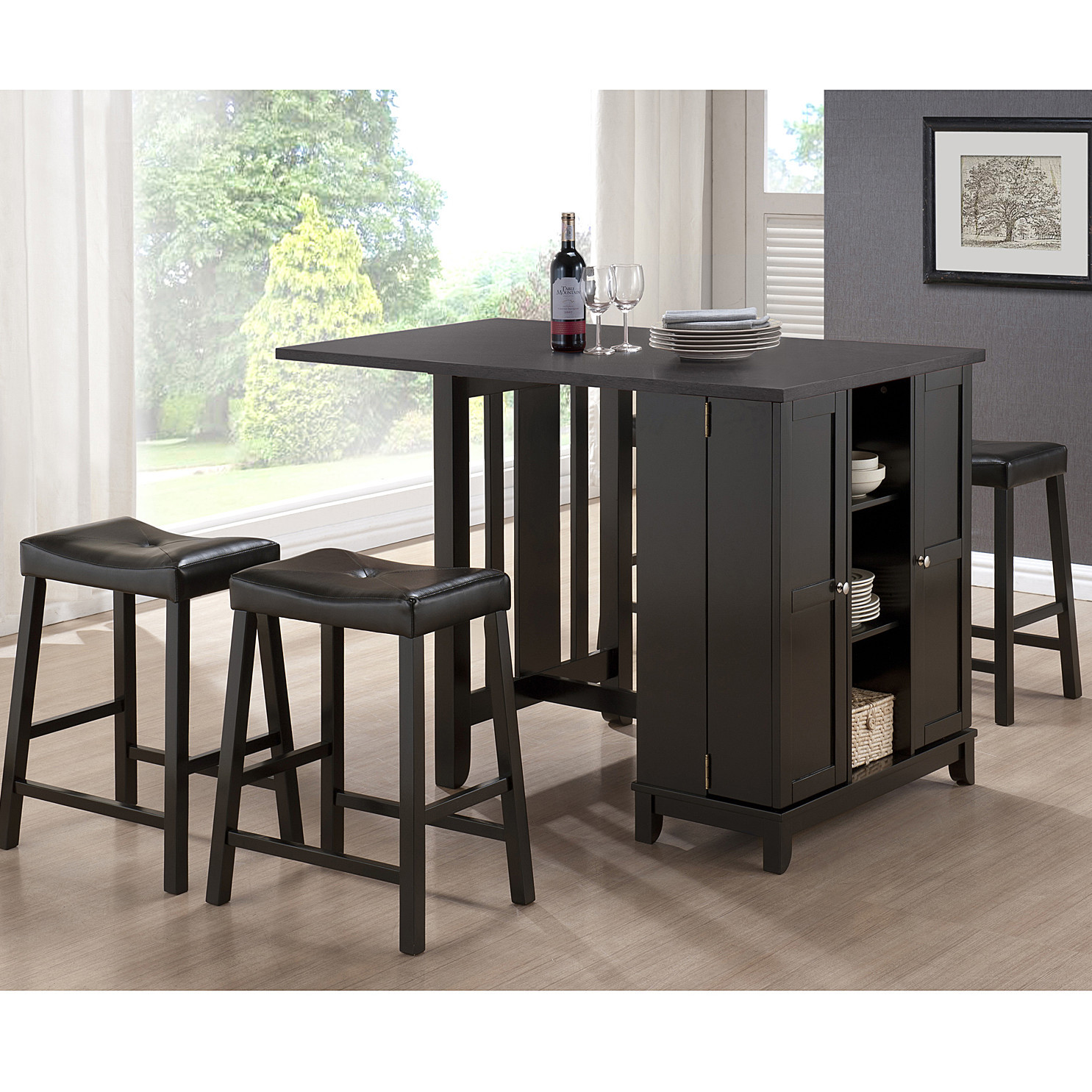 Best ideas about Dining Table With Storage . Save or Pin Wholesale Interiors Baxton Studio Aurora 5 Piece Dining Now.