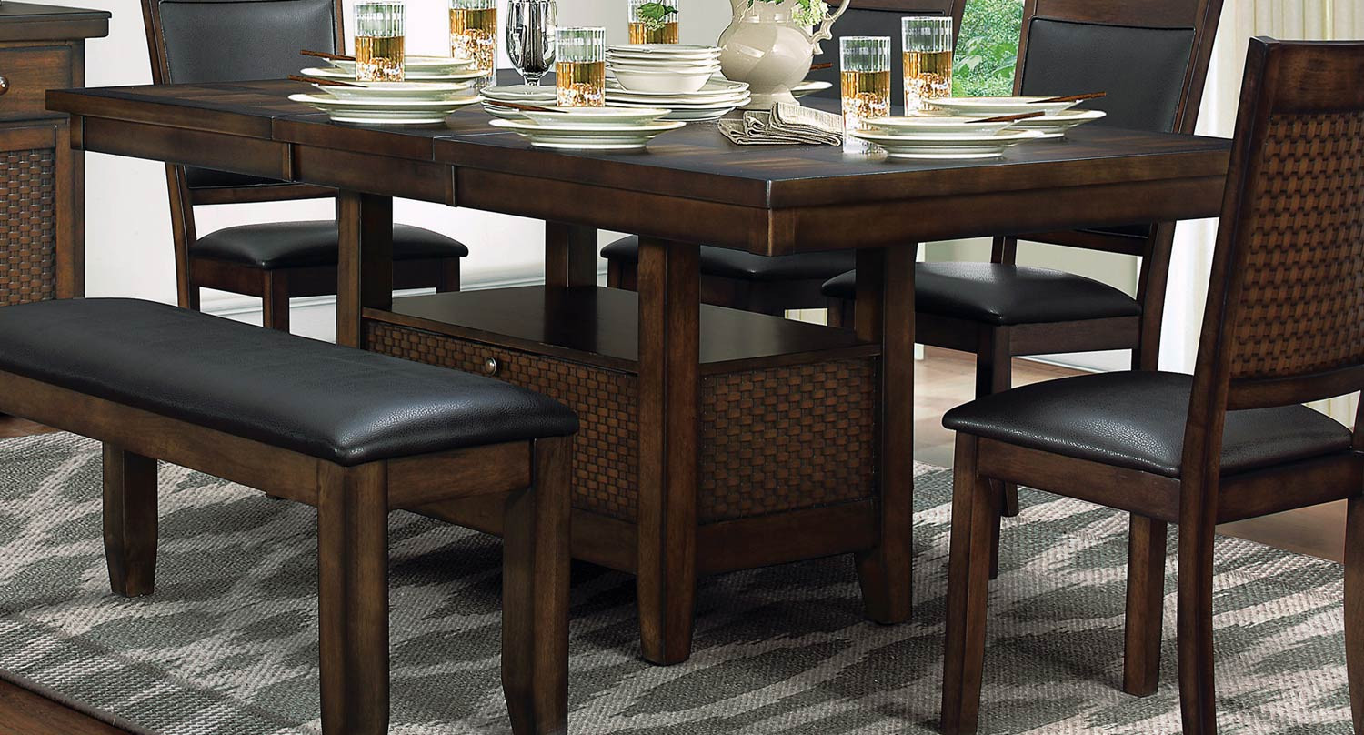 Best ideas about Dining Table With Storage . Save or Pin Homelegance Wickham Dining Table with Storage Burnished Now.