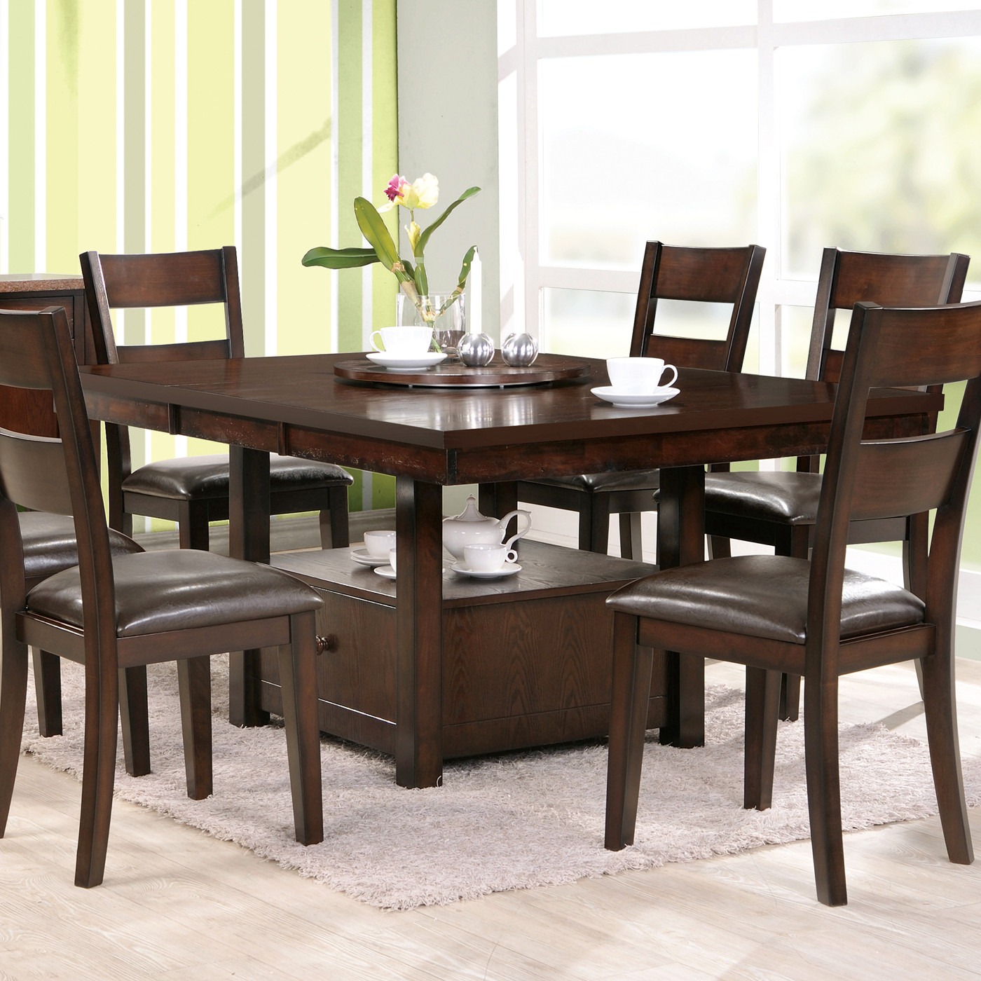 Best ideas about Dining Table With Storage . Save or Pin Steve Silver pany GB500P Gibson Adjustable Height Now.