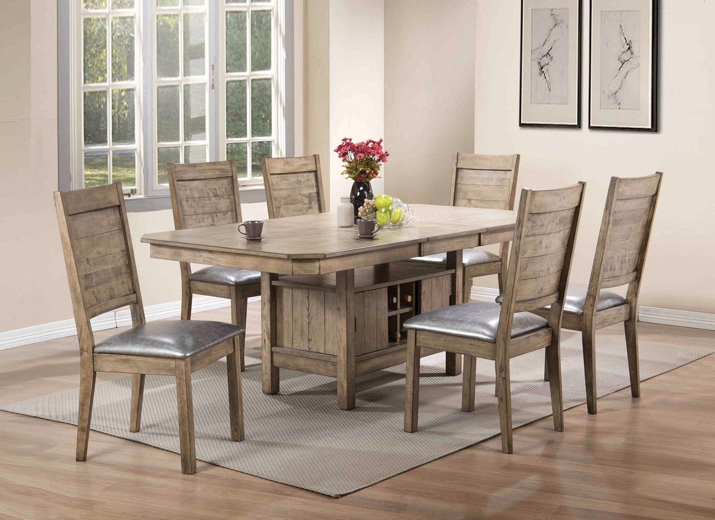 """Best ideas about Dining Table With Storage . Save or Pin Valeria Modern 5 pc 60"""" 78"""" Storage Dining Table Set in Now."""
