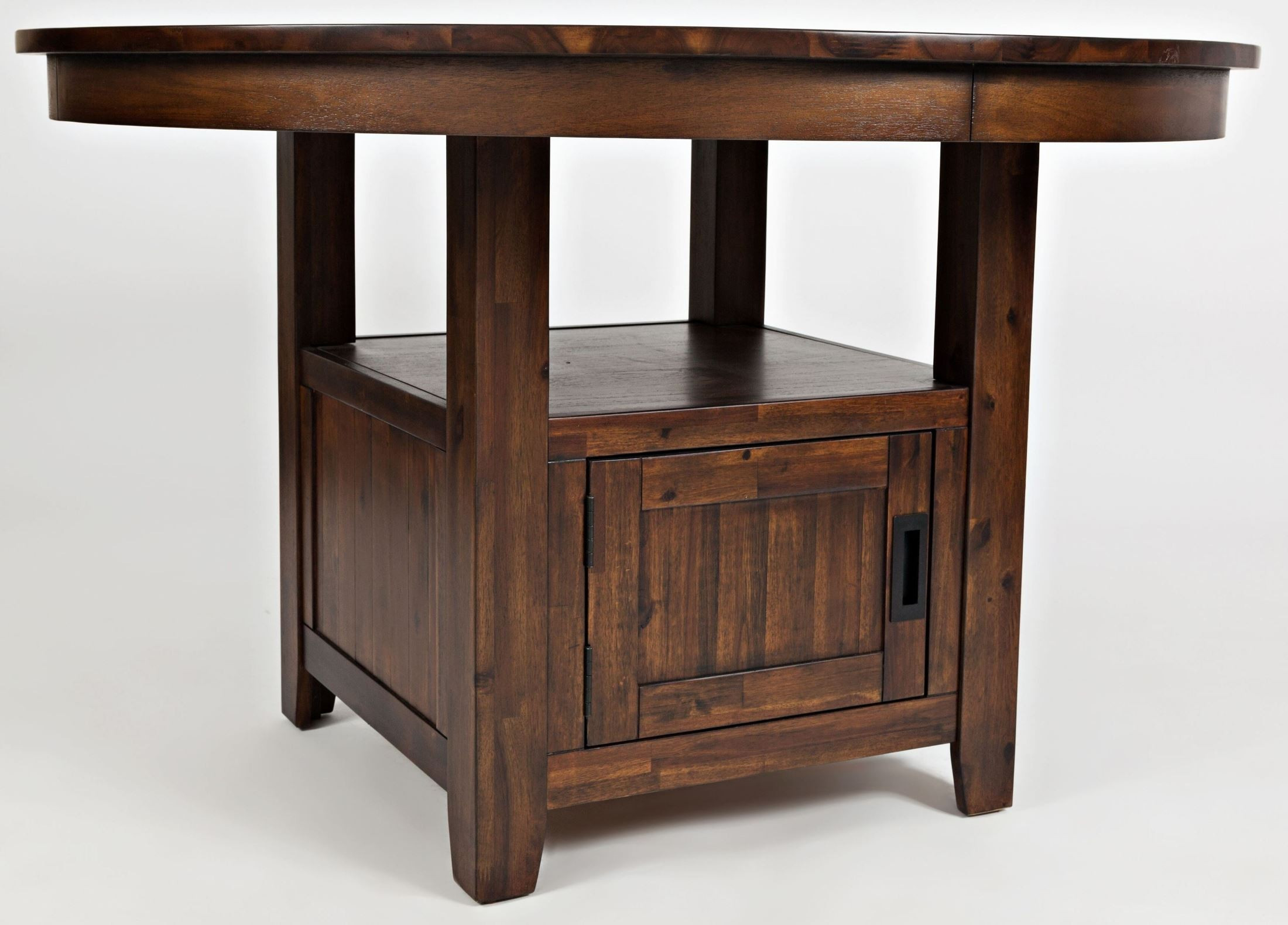 """Best ideas about Dining Table With Storage . Save or Pin Coolidge Corner 48"""" Adjustable Round Storage Dining Table Now."""