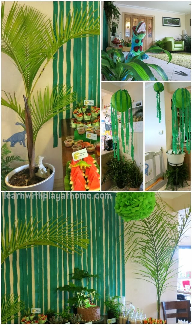 Best ideas about Dinosaur Birthday Party Decorations . Save or Pin Decorative ideas for a dinosaur party Now.