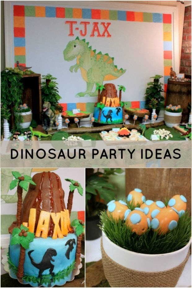 Best ideas about Dinosaur Birthday Party Decorations . Save or Pin Dinosaur Themed 2nd Birthday Party Spaceships and Laser Now.