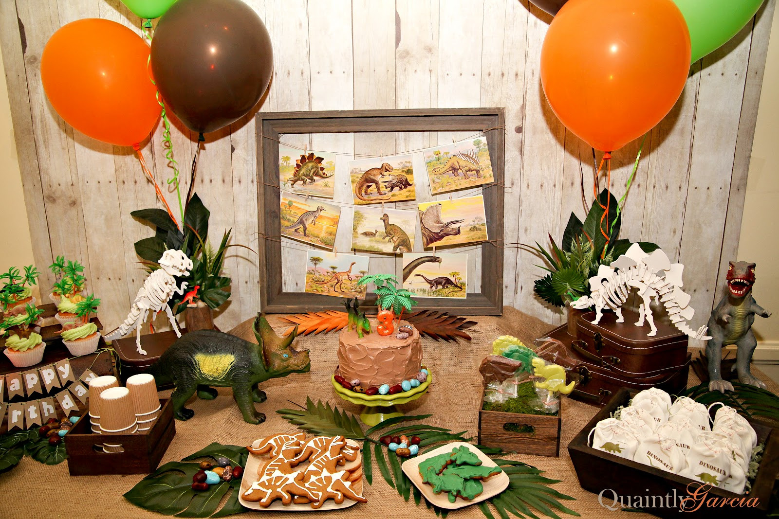 Best ideas about Dinosaur Birthday Party Decorations . Save or Pin Quaintly Garcia Julian s Dinosaur Party at the Natural Now.
