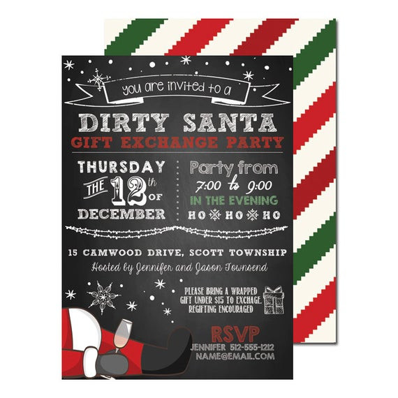 Best ideas about Dirty Santa Gift Exchange Ideas . Save or Pin Items similar to Dirty Santa Gift Exchange Christmas Party Now.