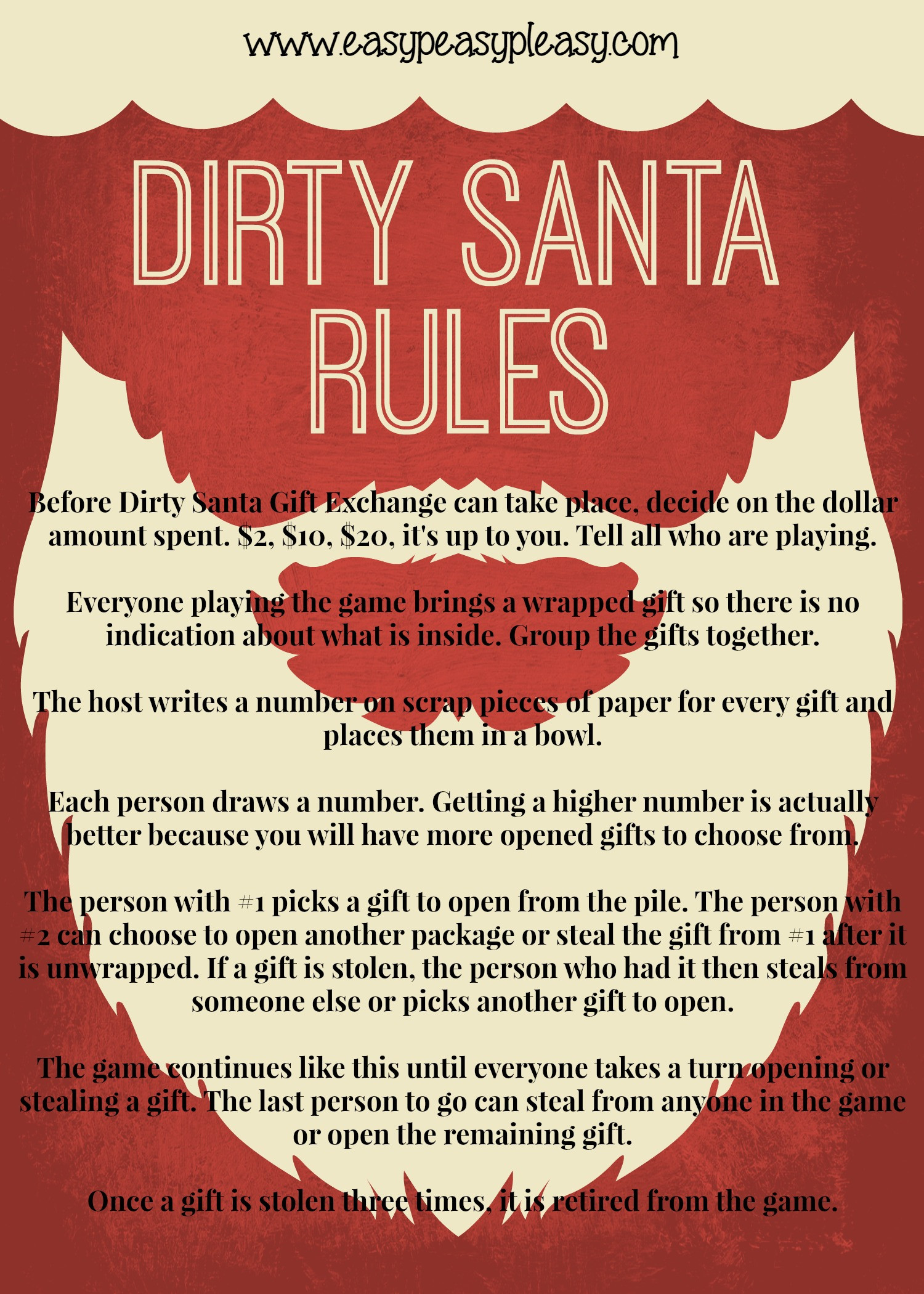 Best ideas about Dirty Santa Gift Exchange Ideas . Save or Pin Dirty Santa Lottery Tickets = The Perfect Gift Easy Now.