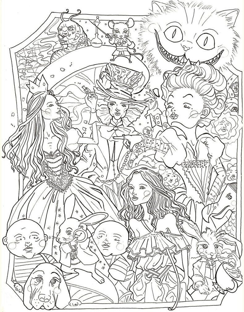 Best ideas about Disney Adult Coloring Books . Save or Pin Alice in Wonderland by sidoans Now.