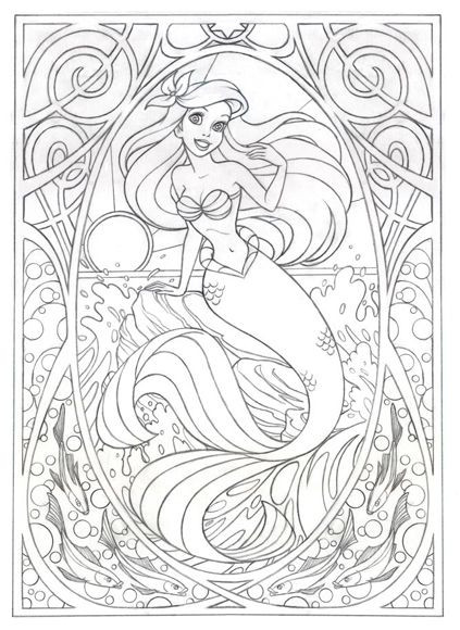 Best ideas about Disney Adult Coloring Books . Save or Pin Coloring page for later this Art Nouveau Now.
