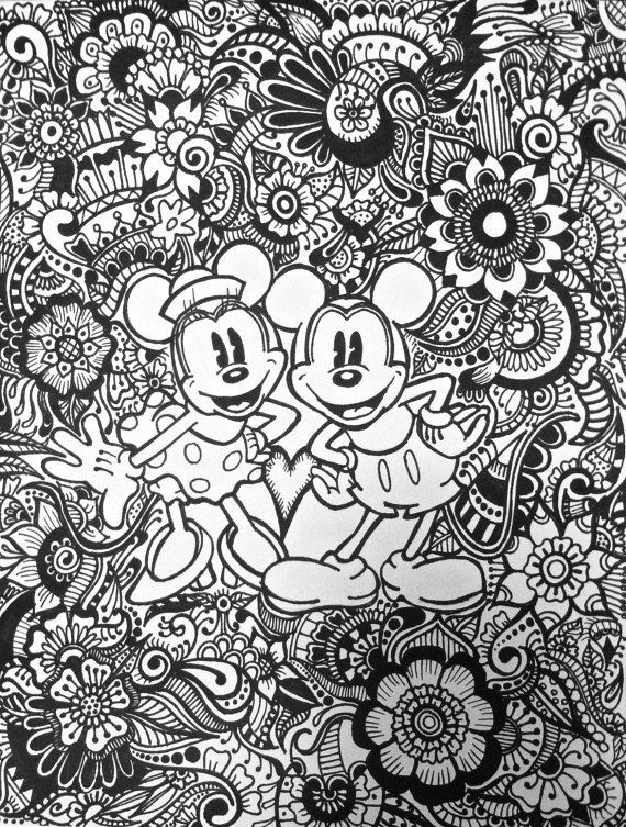 Best ideas about Disney Adult Coloring Books . Save or Pin 741 best images about Coloring on Pinterest Now.