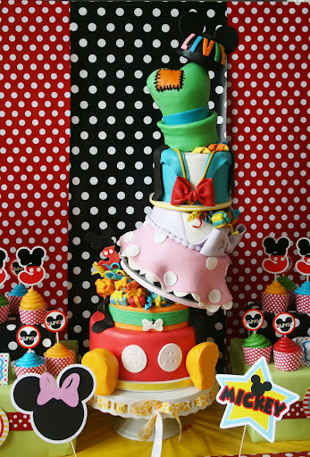 Best ideas about Disney Birthday Cake . Save or Pin Topsy Turvey Six Layer Disney Character Birthday Cake Now.