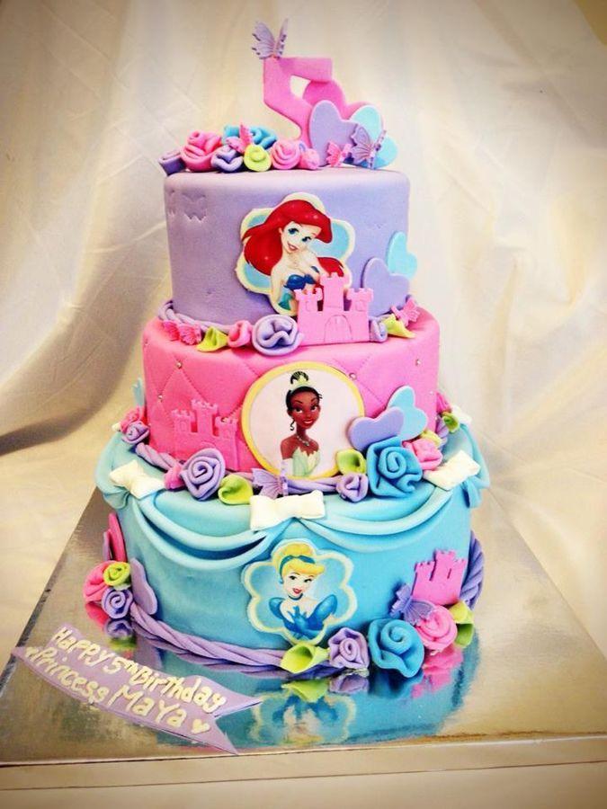 Best ideas about Disney Birthday Cake . Save or Pin Three Tier Disney Princess Cake Except I want Ariel Now.