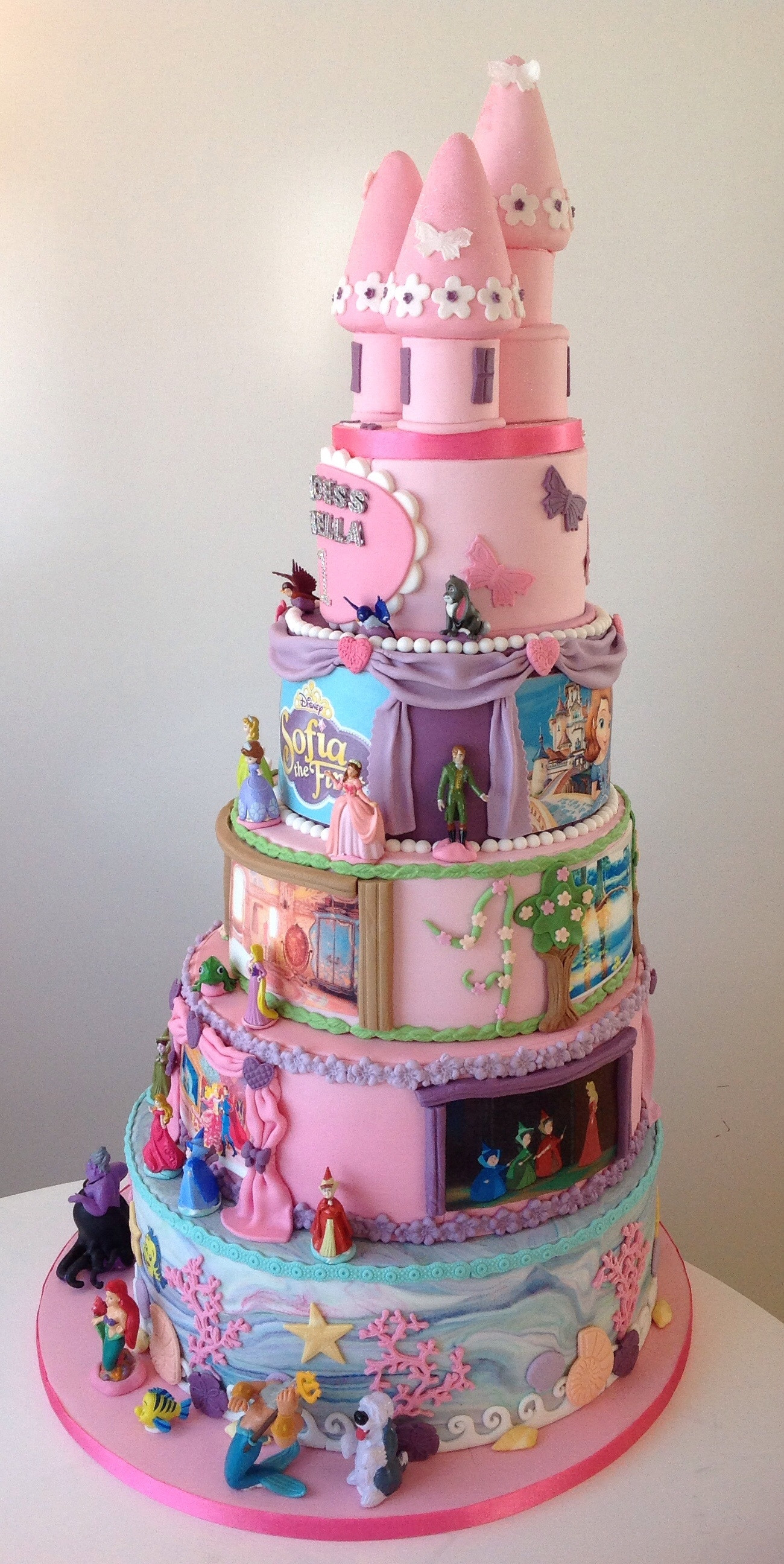 Best ideas about Disney Birthday Cake . Save or Pin Disney Princess 1St Birthday Cake CakeCentral Now.