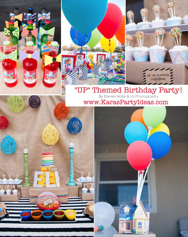 "Best ideas about Disney Birthday Party . Save or Pin Kara s Party Ideas Disney s ""Up"" Rainbow Balloon Boy Girl Now."