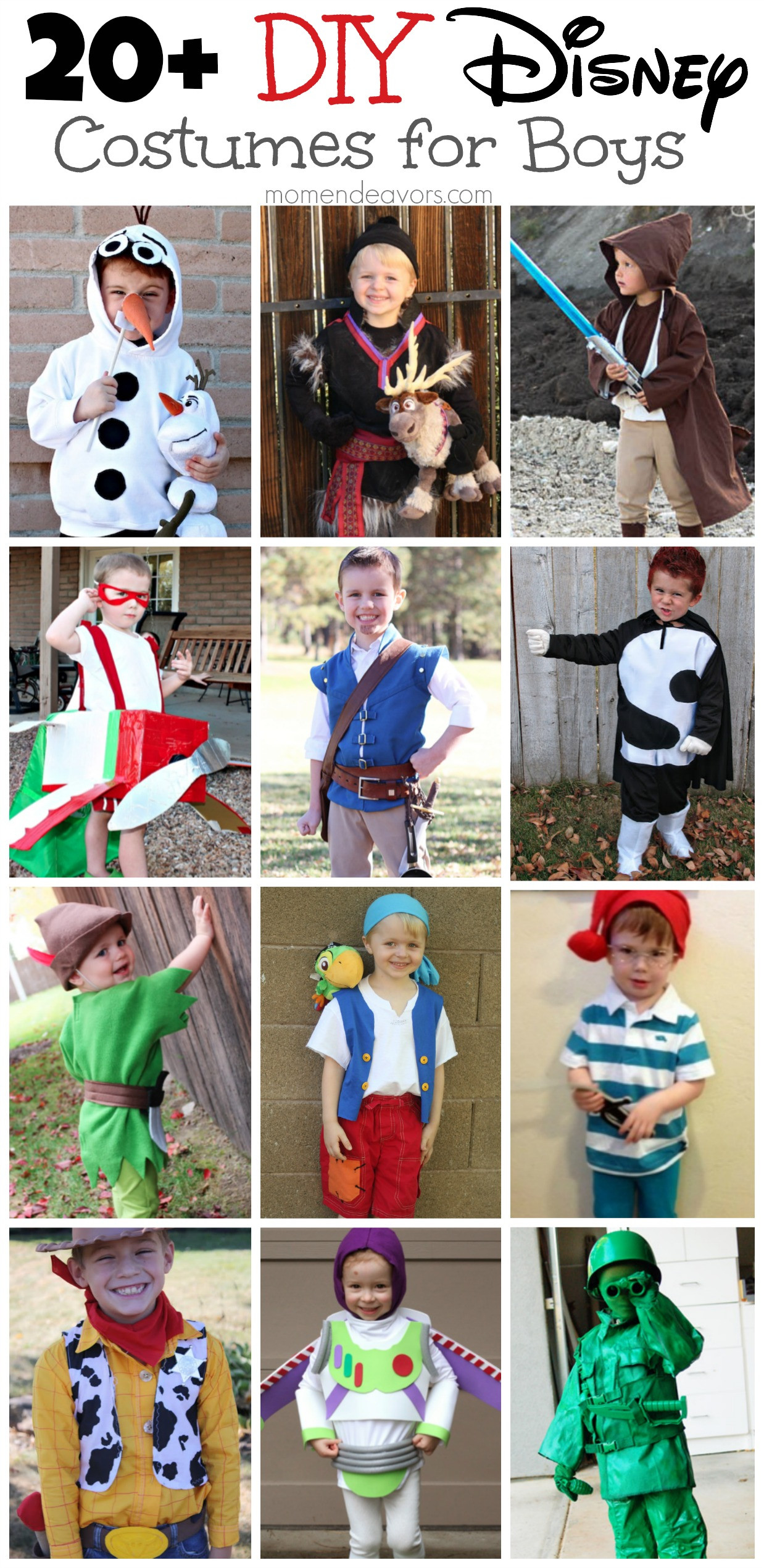 Best ideas about Disney Character Costumes DIY . Save or Pin DIY Disney Costumes for Boys Now.