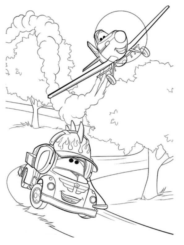 Best ideas about Disney Planes Coloring Pages For Kids . Save or Pin coloring page Disney Planes Chug and Dusty Now.