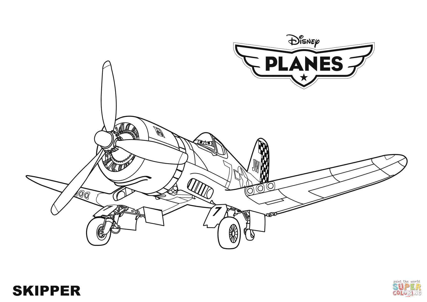 Best ideas about Disney Planes Coloring Pages For Kids . Save or Pin Disney Planes Skipper coloring page Now.