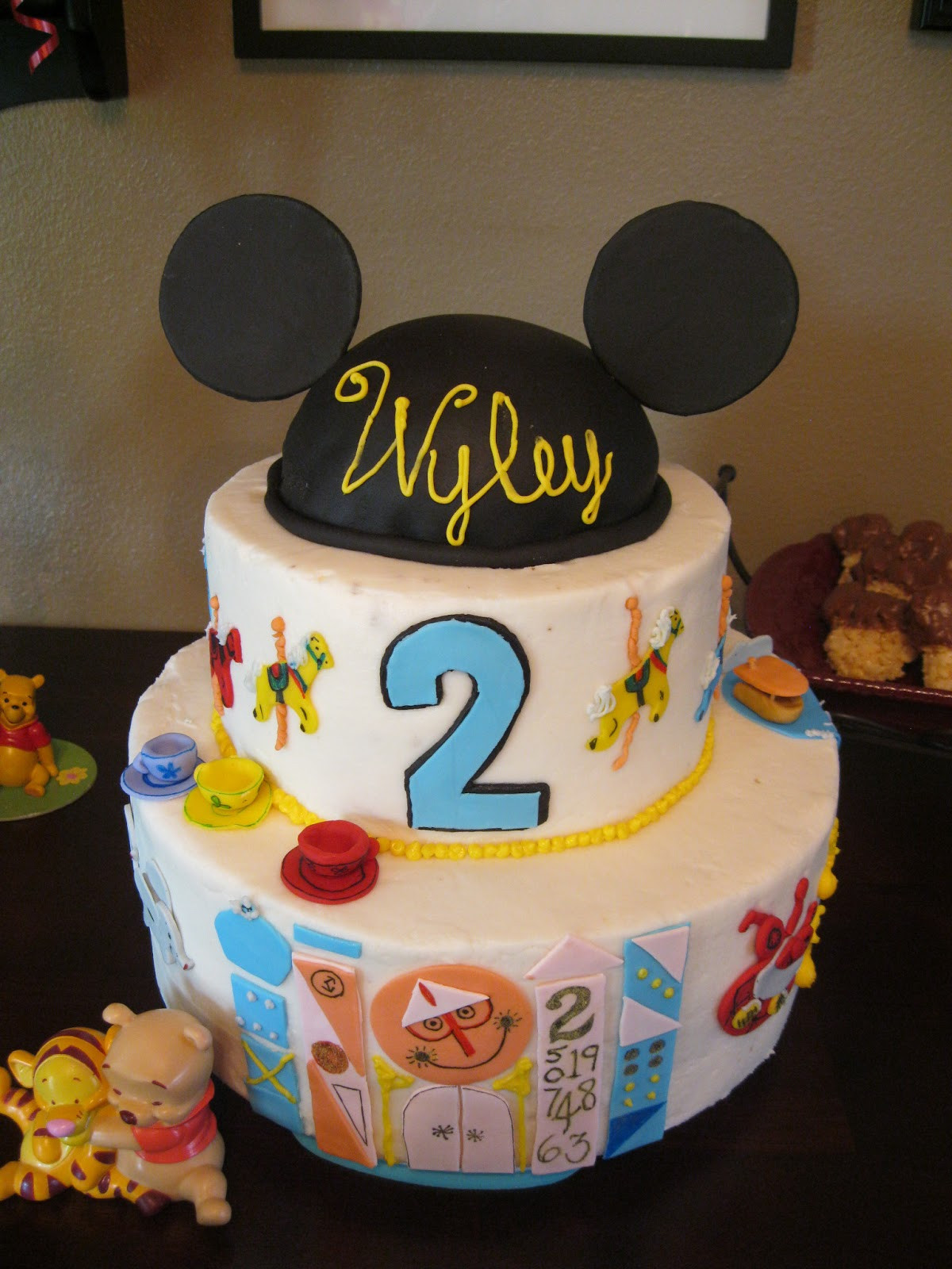Best ideas about Disneyland Birthday Cake . Save or Pin Cakes Crafts and Kylie Disneyland Themed Birthday Party Now.