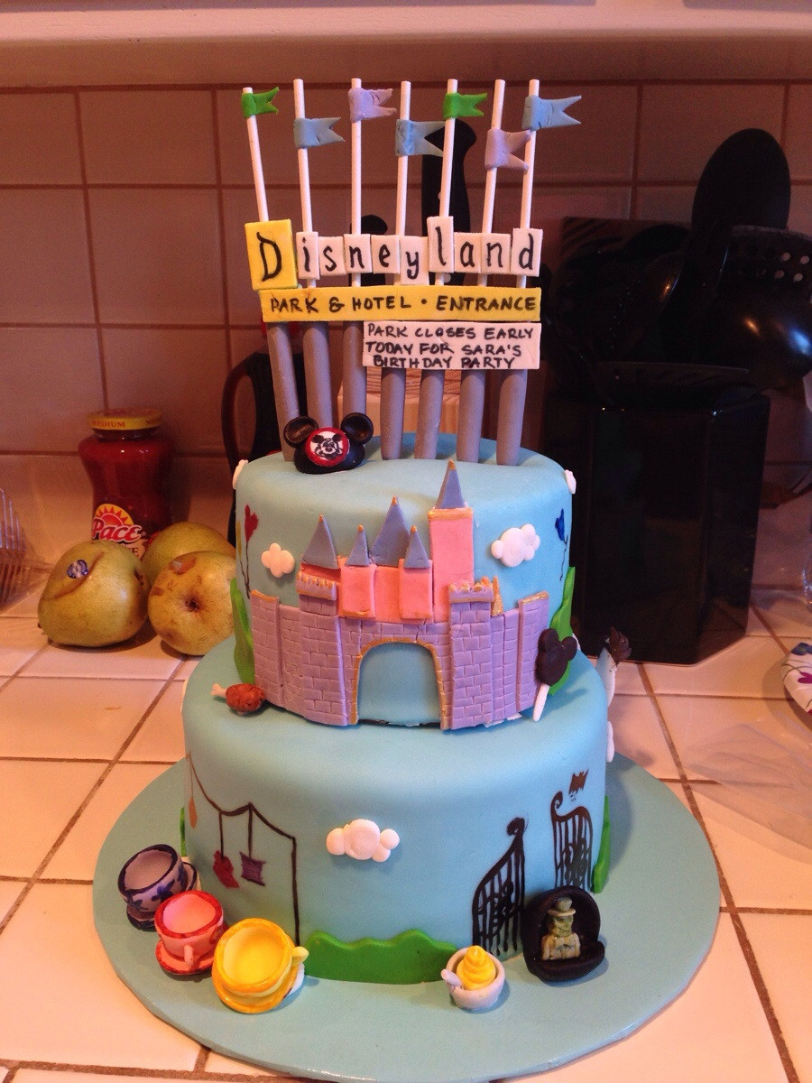 Best ideas about Disneyland Birthday Cake . Save or Pin Disneyland themed cake I made for my friend s birthday Now.