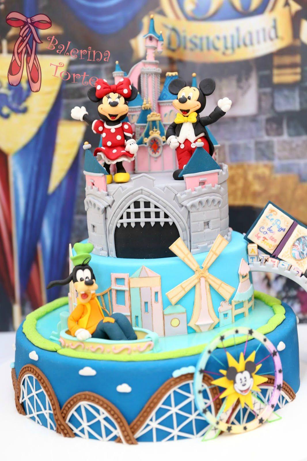 Best ideas about Disneyland Birthday Cake . Save or Pin Disneyland Cake – Diznilend torta by Balerina Torte Now.