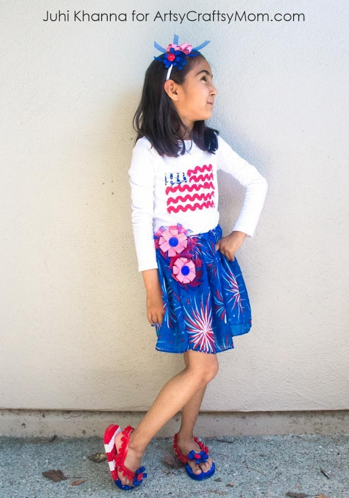 Best ideas about DIY 4Th Of July Outfits . Save or Pin DIY American Flag inspired Outfit for 4th of July Now.
